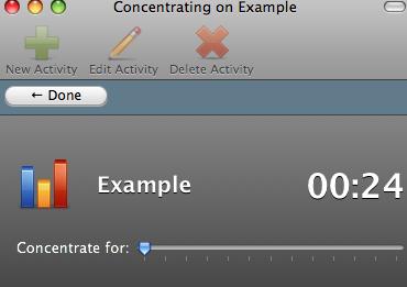 Concentrate - pomiar czasu