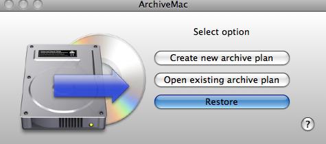 ArchiveMac- przywracanie danych
